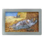 Van Gogh: Resto del mediodía del trabajo Hebilla Cinturón Rectangular