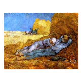 Van Gogh: Resto del mediodía del trabajo Postal