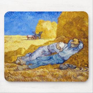 Van Gogh - resto del mediodía del trabajo Tapetes De Ratón