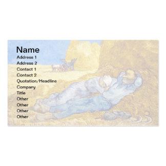 Van Gogh - resto del mediodía del trabajo Tarjetas De Visita
