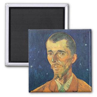 Van Gogh; Retrato de Eugene Boch, arte del vintage Imán De Frigorífico