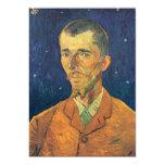 Van Gogh; Retrato de Eugene Boch, arte del vintage Invitación 12,7 X 17,8 Cm