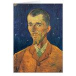 Van Gogh; Retrato de Eugene Boch, arte del vintage Tarjeta De Felicitación