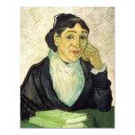 Van Gogh, retrato de L'Arlesienne (señora Ginoux) Invitación 10,8 X 13,9 Cm