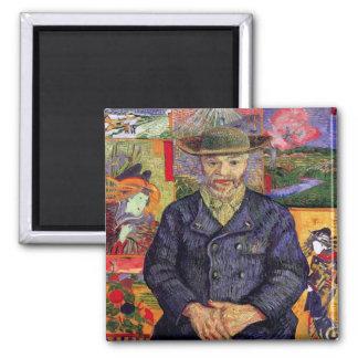 Van Gogh - retrato de Pere Tanguy Imán Cuadrado