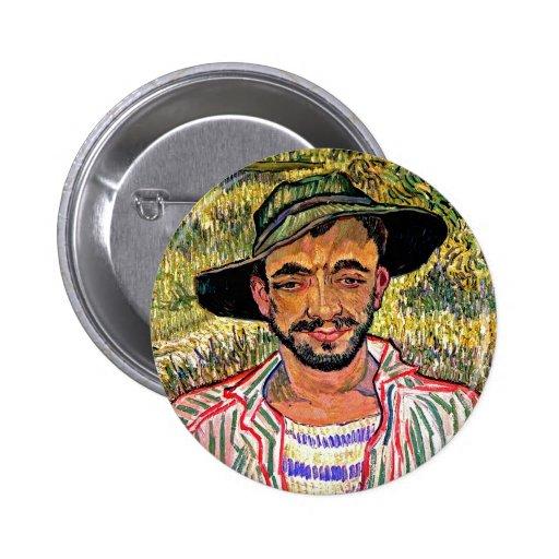 Van Gogh - retrato de un campesino joven Pins