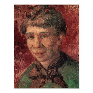 """Van Gogh; Retrato de una mujer (señora Tanguy?) Invitación 4.25"""" X 5.5"""""""