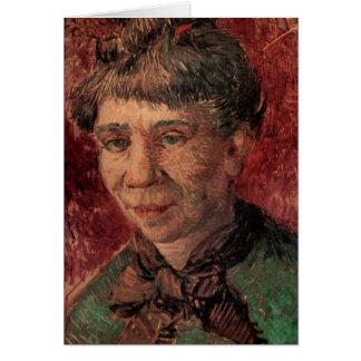 Van Gogh; Retrato de una mujer (señora Tanguy?) Tarjeta De Felicitación