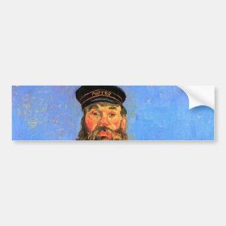 Van Gogh, retrato del cartero José Roulin Pegatina Para Auto