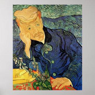 Van Gogh; Retrato del doctor Gachet, arte del Poster