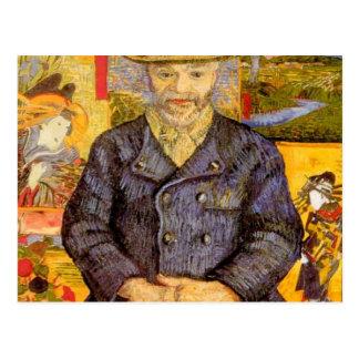 Van Gogh - retrato del pere Tanguy 1887-8 Postales