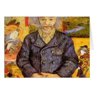 Van Gogh - retrato del pere Tanguy 1887-8 Tarjeta De Felicitación