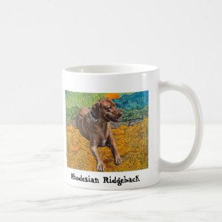 Van Gogh Rising Moon Rhodesian Ridgeback Mug