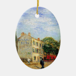 Van Gogh Rispal Restaurant at Asnieres Ceramic Ornament