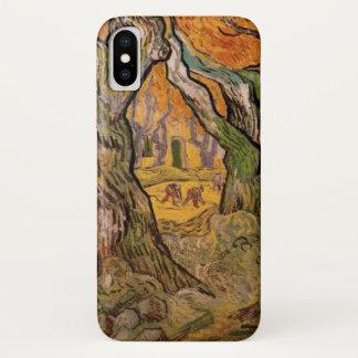 Van Gogh Road Menders, Vintage Post Impressionism iPhone X Case