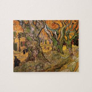 Van Gogh Road Menders, Vintage Post Impressionism Jigsaw Puzzle