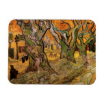 Van Gogh Road Menders, Vintage Post Impressionism Rectangular Photo Magnet