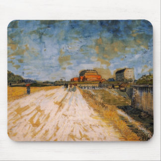 Van Gogh Road Running Beside the Paris Ramparts Mouse Pad