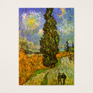 Van Gogh: Road with Cypress and Star Business Card