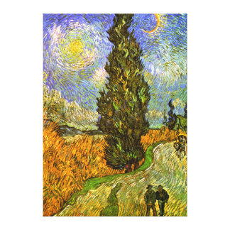 Van Gogh: Road with Cypress and Star Canvas Prints