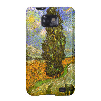 Van Gogh: Road with Cypress and Star Galaxy S2 Cases