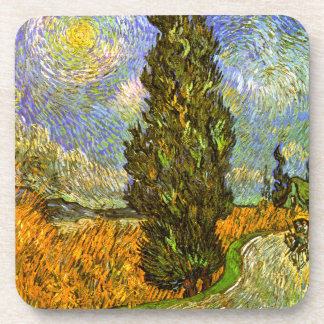 Van Gogh: Road with Cypress and Star Coaster