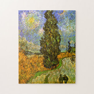 Van Gogh: Road with Cypress and Star Jigsaw Puzzle