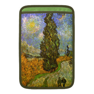 Van Gogh: Road with Cypress and Star MacBook Air Sleeve