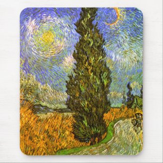 Vincent van Gogh: Road with Cypress and Star