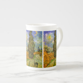 Van Gogh: Road with Cypress and Star Tea Cup