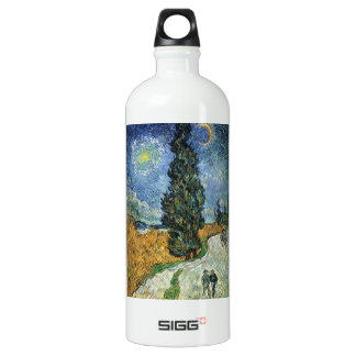 Van Gogh Road With Cypresses Aluminum Water Bottle