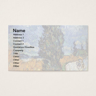 Van Gogh - Road With Cypresses Business Card