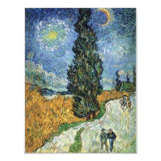Van Gogh Road With Cypresses Invitations