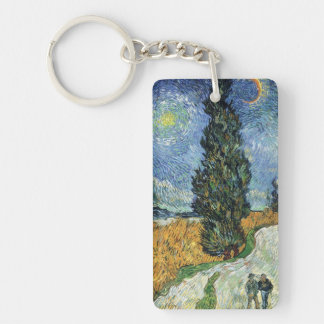 Van Gogh Road With Cypresses Keychain