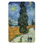 Van Gogh Road With Cypresses Magnet