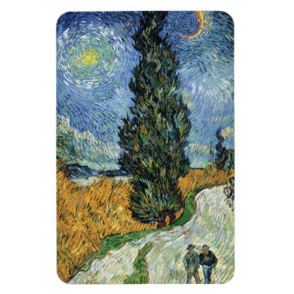Van Gogh Road With Cypresses Magnet