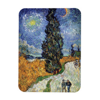 Van Gogh - Road With Cypresses Magnet