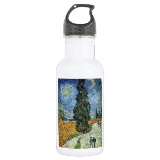 Van Gogh Road With Cypresses Water Bottle