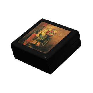 Van Gogh Romantic Fine Art with Roses and Wine Keepsake Box