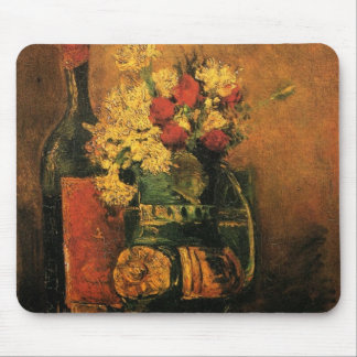 Van Gogh Romantic Fine Art with Roses and Wine Mouse Pad