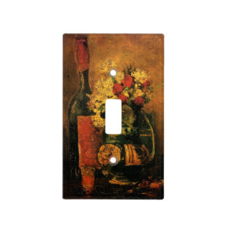 Van Gogh Romantic Still Life with Roses and Wine Switch Plate Cover