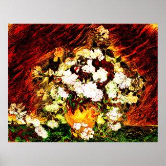 Van Gogh - rosas Póster