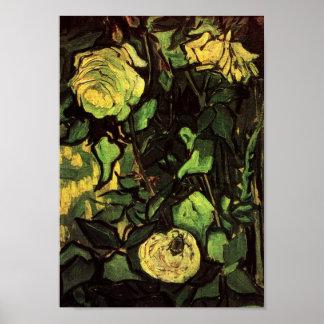 Van Gogh - rosas y escarabajo Posters