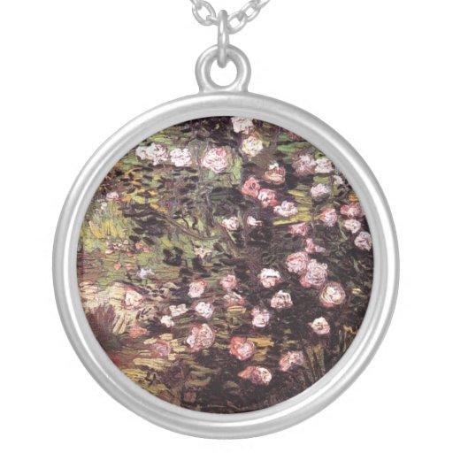 Van Gogh - Rosebush en flor Colgante Redondo