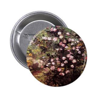 Van Gogh - Rosebush In Blossom 2 Inch Round Button