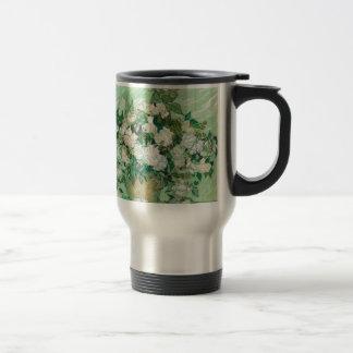 Van Gogh- Roses 15 Oz Stainless Steel Travel Mug