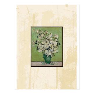 Van Gogh Roses Vintage Fine Art Postcard