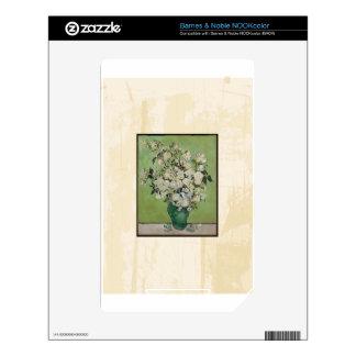 Van Gogh Roses Vintage Fine Art Decal For NOOK Color