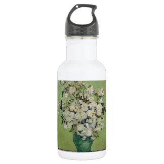 Van Gogh Roses Vintage Fine Art Stainless Steel Water Bottle