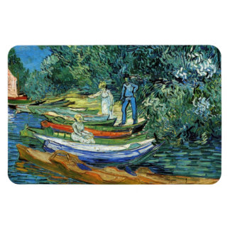 Van Gogh Rowing Boats on the Banks of the Oise Magnet